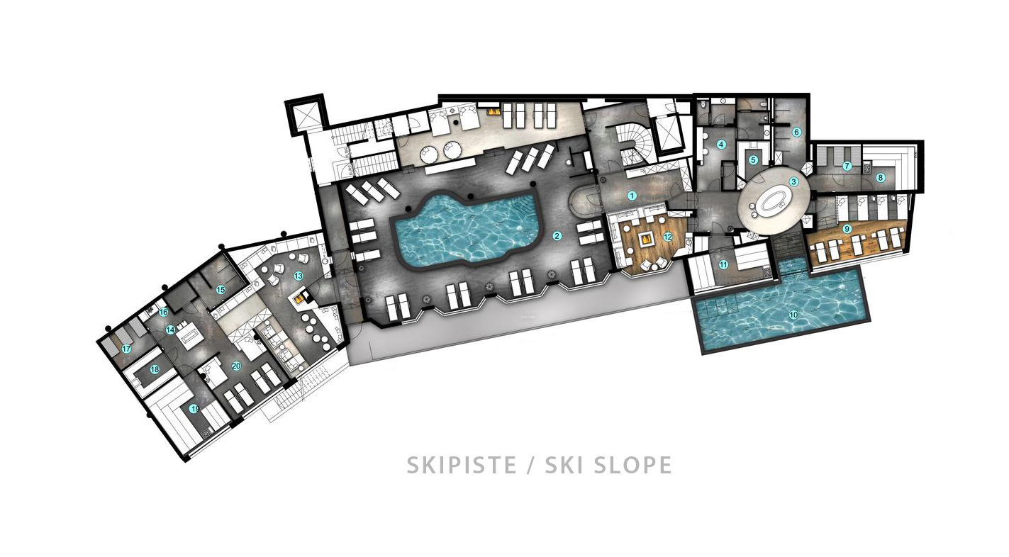 Spa wellness grundriss  Skiurlaub mit Wellness im 4* Superior Hotel Enzian • Hochsölden – Ötztal